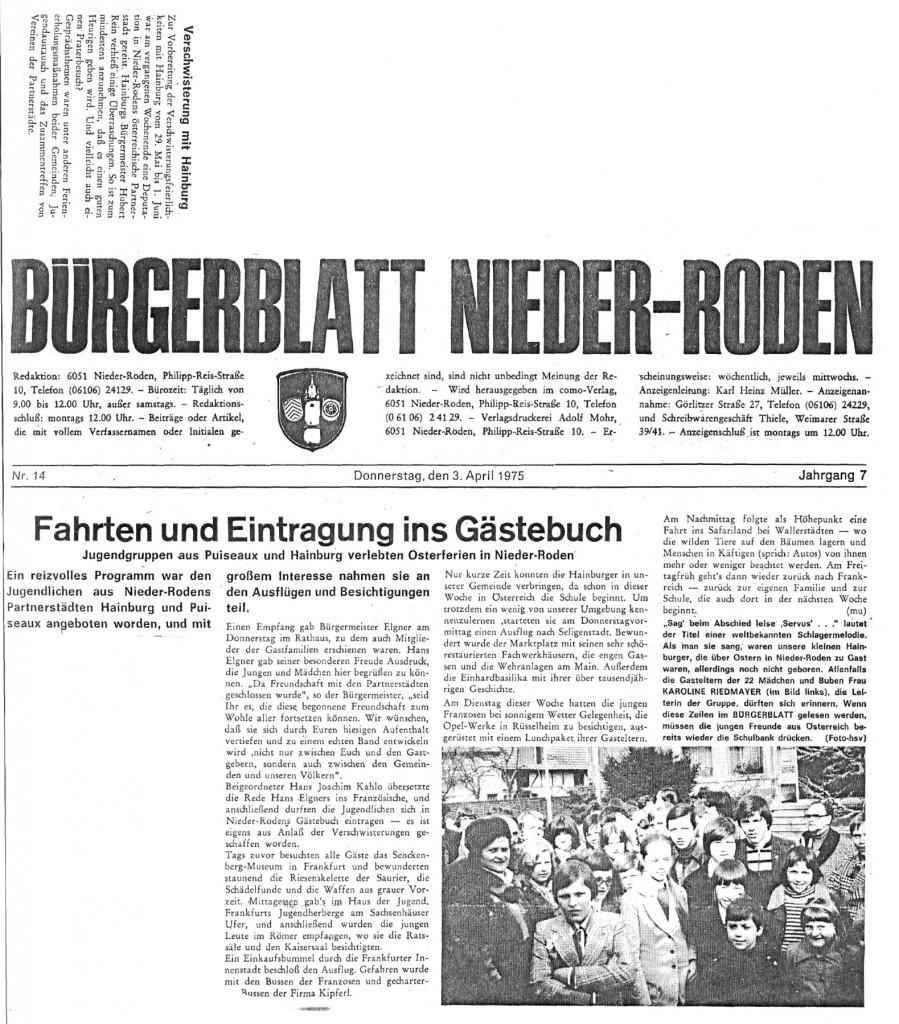 19750403_Zeitungsausschnitt Bürgerblatt