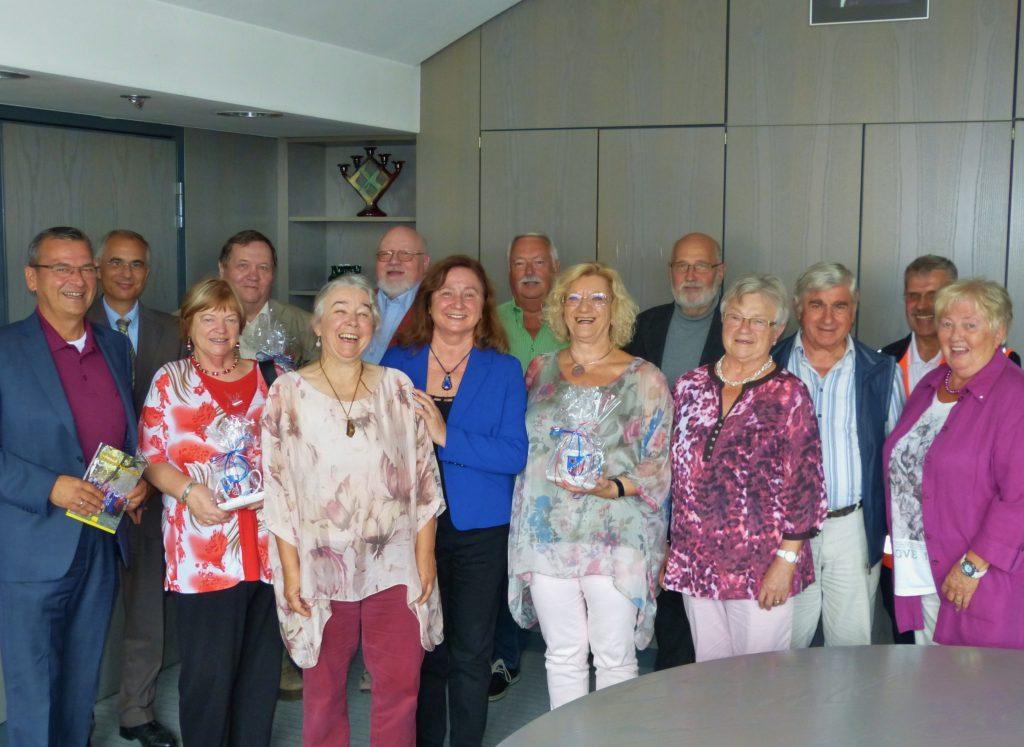Empfang der Hainburger Autorenrunde bei Herrn Bürgermeister Jürgen Hoffmann